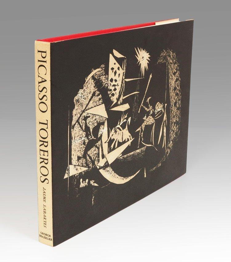 4: PABLO PICASSO TOREROS BOOK WITH 4 LITHOGRAPHS 1961