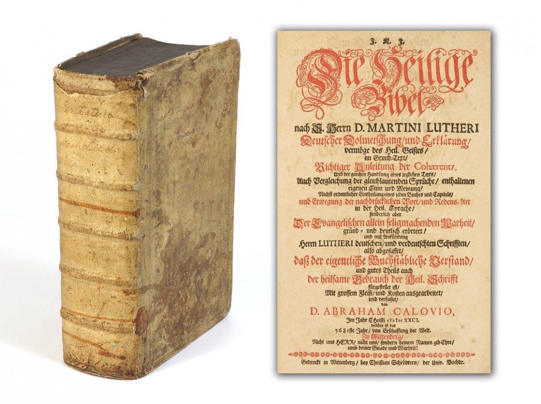 10: 17TH CENTURY GERMAN CALOVIUS CALOV BIBLE 1681
