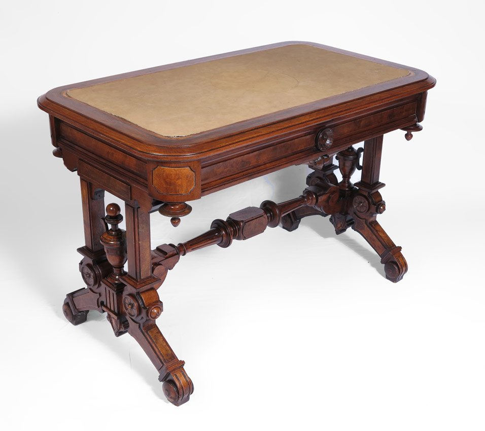 25: VICTORIAN LIBRARY TABLE