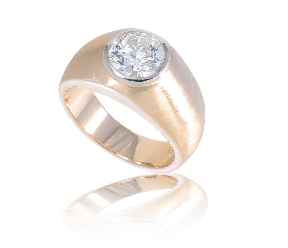 102: 1.82 CT DIAMOND SOLITAIRE HEARTS ON FIRE RING AGS