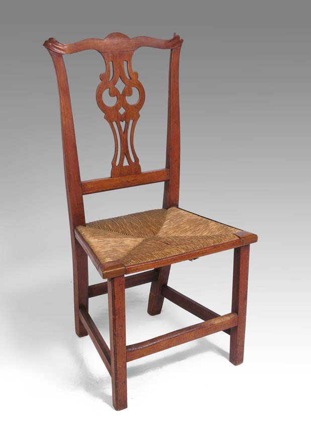 13: COUNTRY CHIPPENDALE SIDE CHAIR
