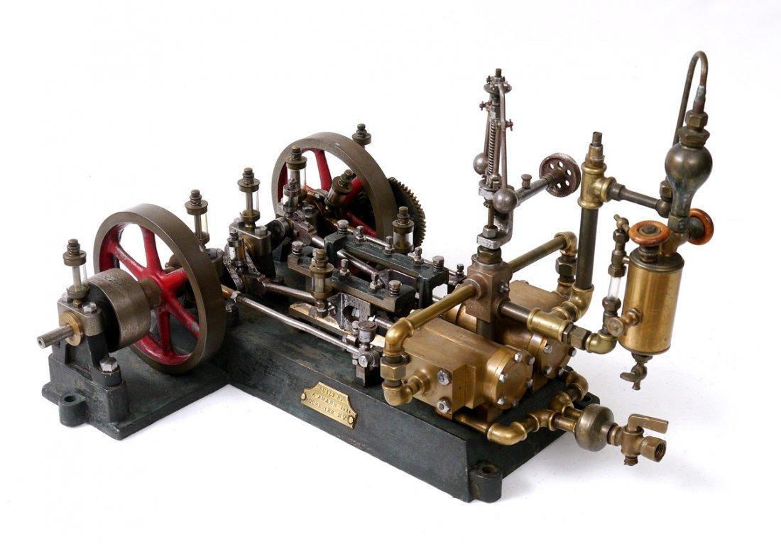 5: 1914 TWIN CYLINDER MODEL STEAM ENGINE NEVADA