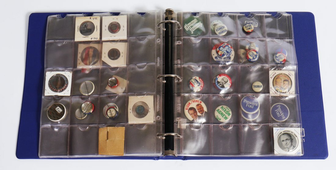421: COLLECTION OF POLITICAL CAMPAIGN BUTTONS