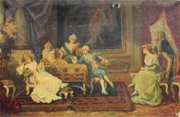 474: EARLY 20TH C. INTERIOR GENRE PAINTING SGN S.FALER