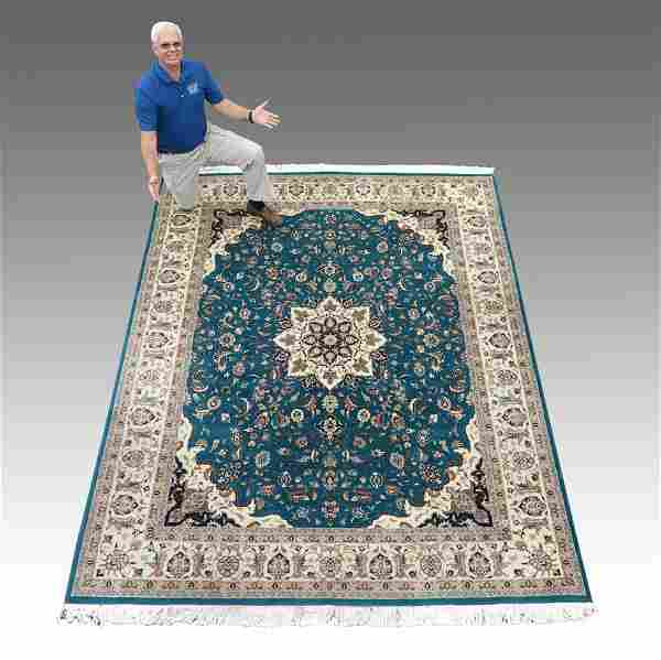 153: MODERN SINO-PERSIAN HAND KNOTTED WOOL RUG 8' x 10'