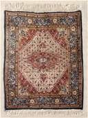 234: MODERN INDO-PERSIAN HAND KNOTTED WOOL RUG 5' x 6'