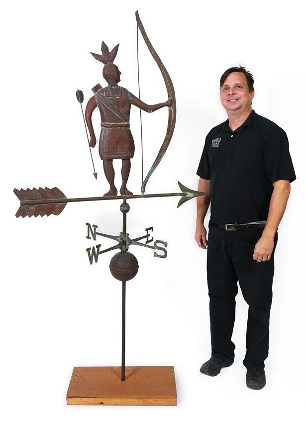 FULL BODY COPPER MASSASOIT INDIAN WEATHERVANE