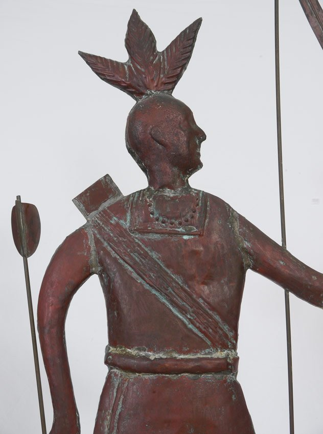 FULL BODY COPPER MASSASOIT INDIAN WEATHERVANE - 3