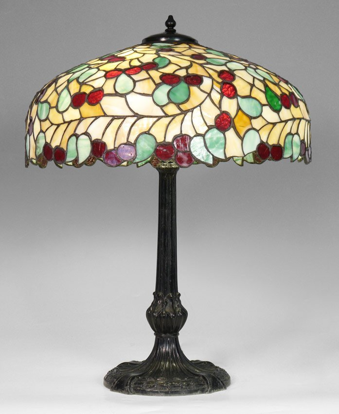 CHICAGO MOSAIC STAINED GLASS LAMP