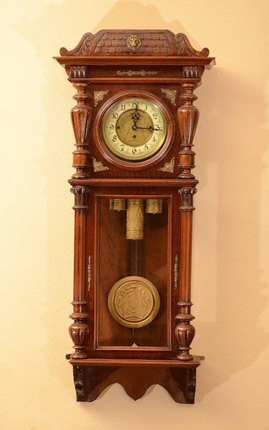 GUSTAV BECKER TRIPLE WEIGHT REGULATOR WALL CLOCK