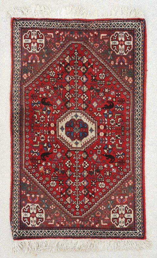 20 YR OLD PERSIAN BIJAR HAND KNOTTED WOOL RUG 2' x