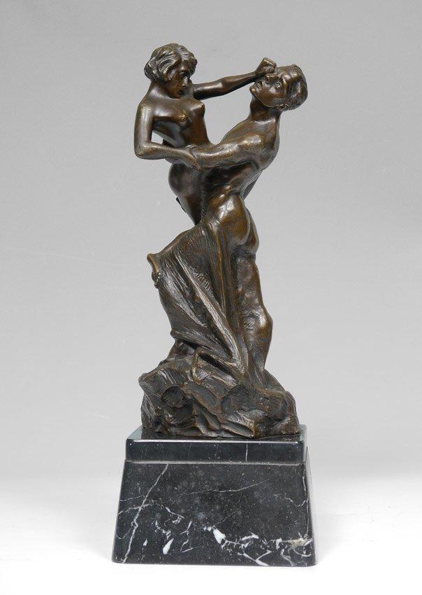 DRAH, MAX, (Austrian, 1879- ): Bronze of Two Disputing