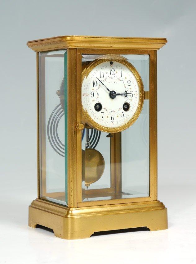 TIFFANY & CO. FRENCH CRYSTAL REGULATOR CLOCK
