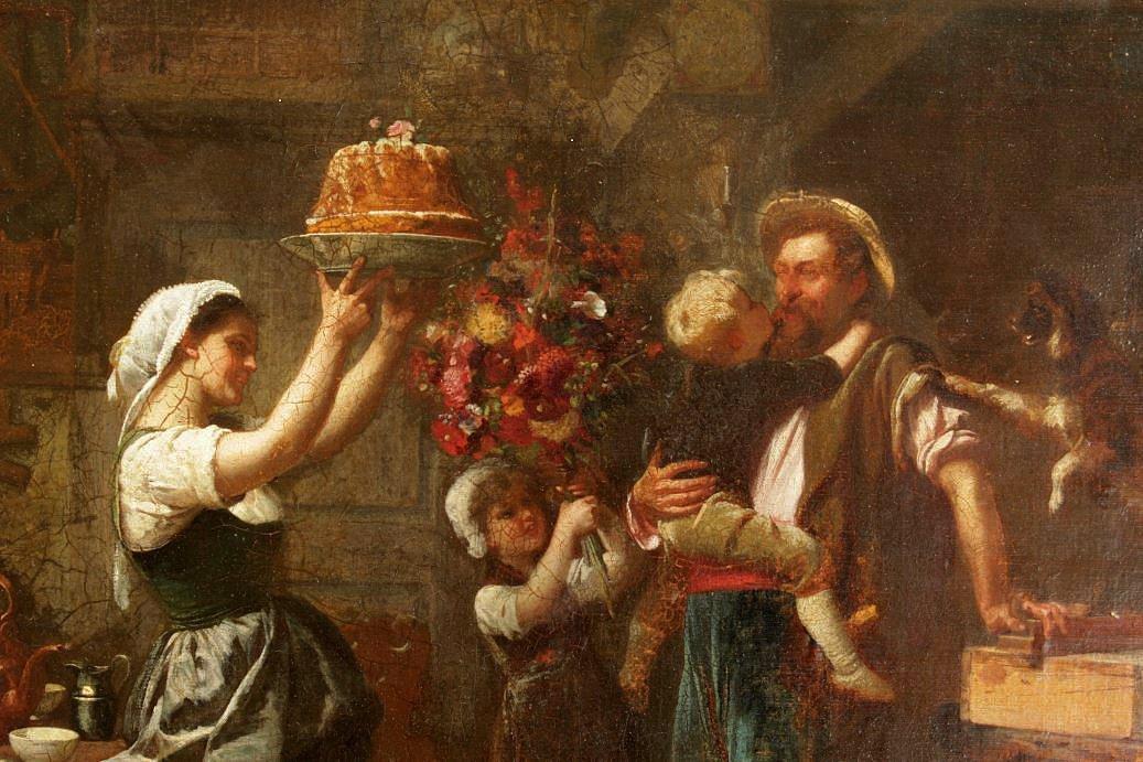 Dieffenbach Painting ''Happy Birthday, Daddy''