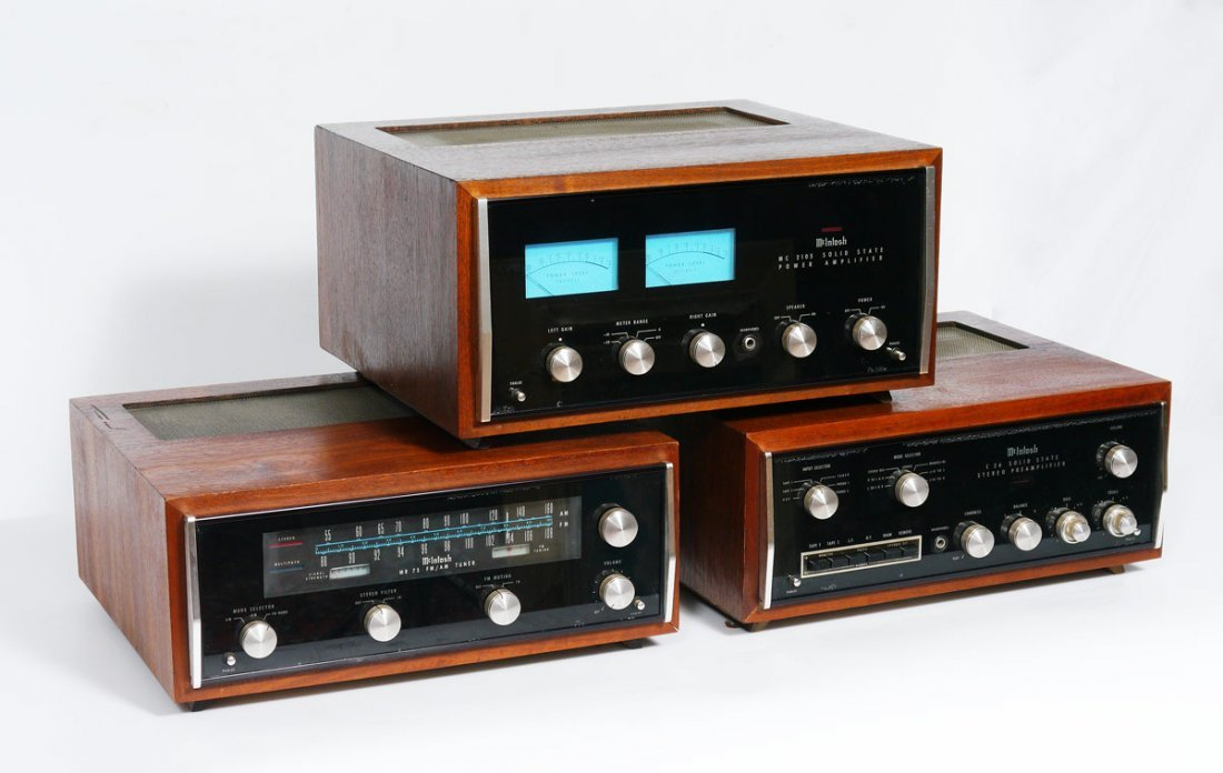 3 PIECE MCINTOSH AMPLIFIER, PRE AMP AND TUNER