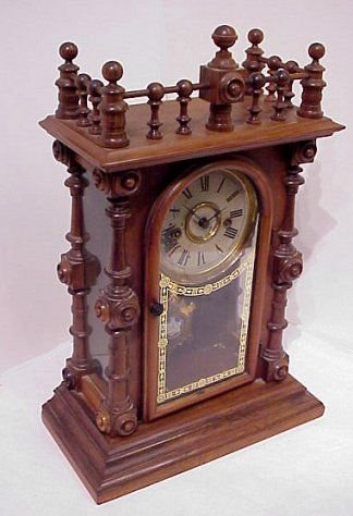 1003: GERSTER WELCH SPRING & CO. SHELF CLOCK
