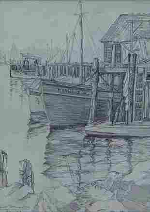3 NEW ENGLAND PENCIL DRAWINGS 1953