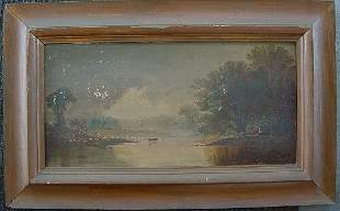 HUDSON RIVER OIL ON CANVAS 1891