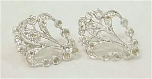 FLEUR DE LIS DIAMOND EARRINGS