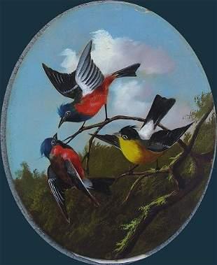 19th C O/B OF BIRDS NORTHRUP