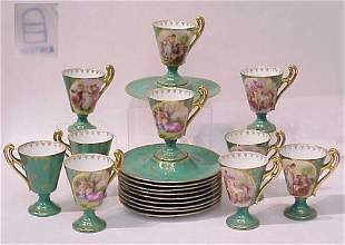 SET OF 12 ROYAL VIENNA CUPS AND SAUCERS