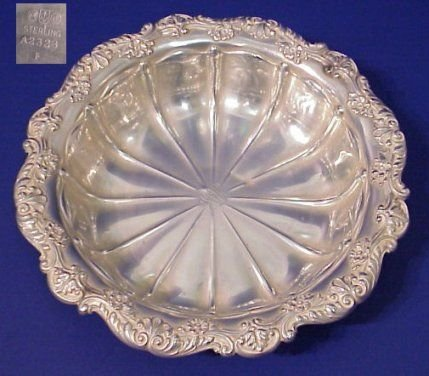 1001: GORHAM STERLING BOWL  10 inch diamater