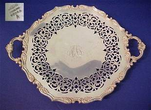 GORHAM RETICULATED STERLING TRAY CA.