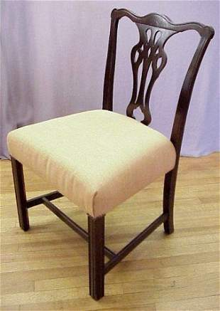 MAHOGANY CHIPPENDALE STYLE CHAIR