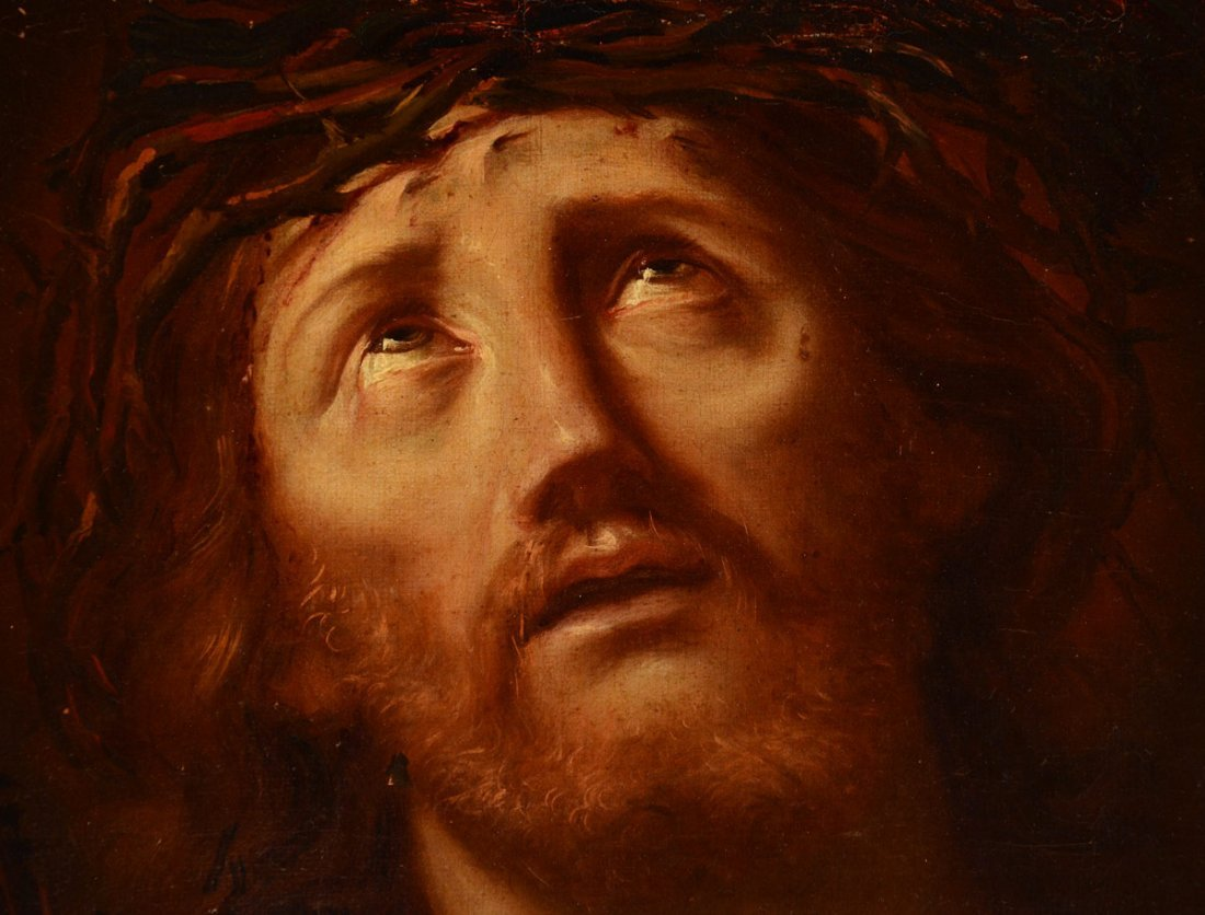 EARLY CHRIST PAINTING AFTER RENI