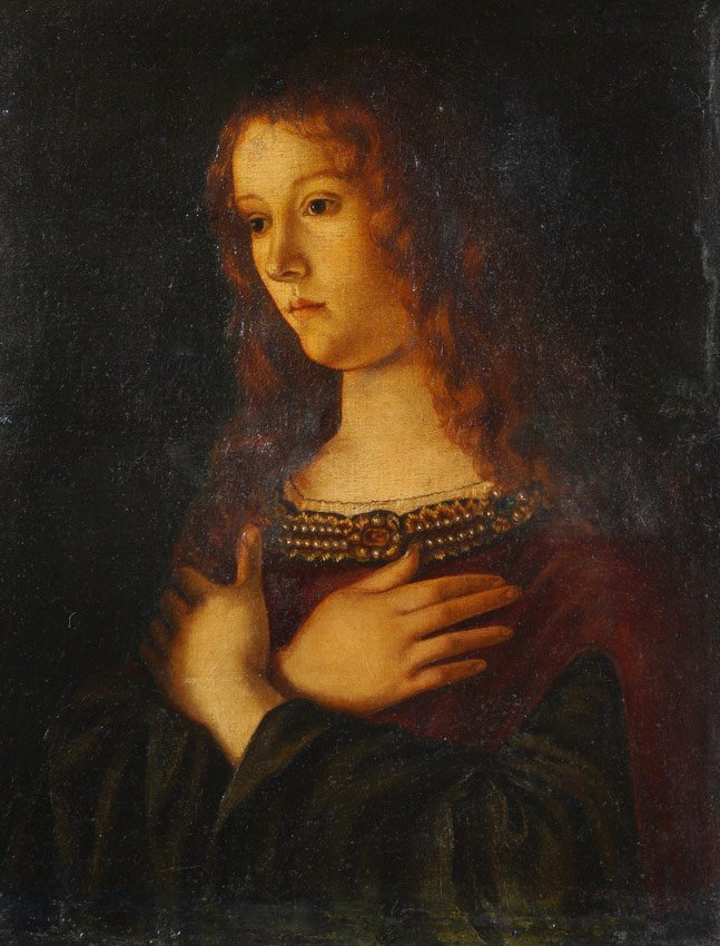 FEMALE SAINT PAINTING AFTER GIOVANNI BELLINI