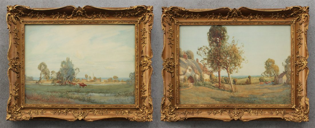 TWO ENGLISH WATERCOLOR LANDSCAPES BY HARRISON