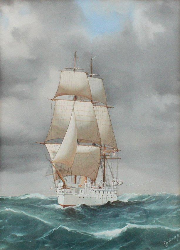 TOMMASO DE SIMONE CLIPPER SHIP PAINTING