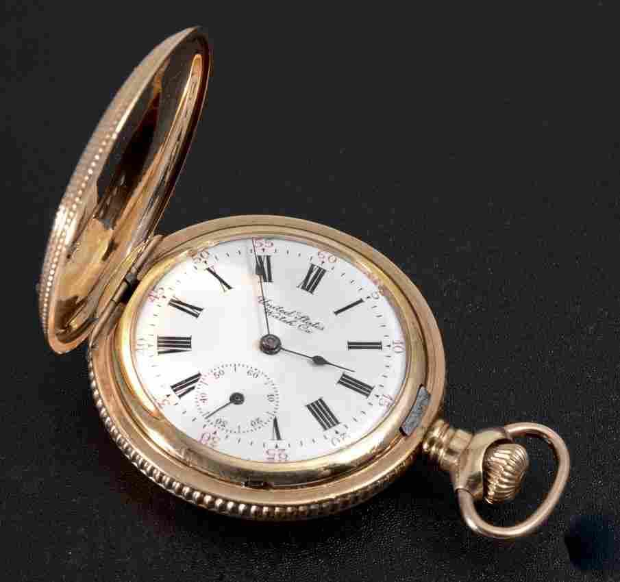 14K GOLD FILLED 1902 WALTHAM POCKET WATCH