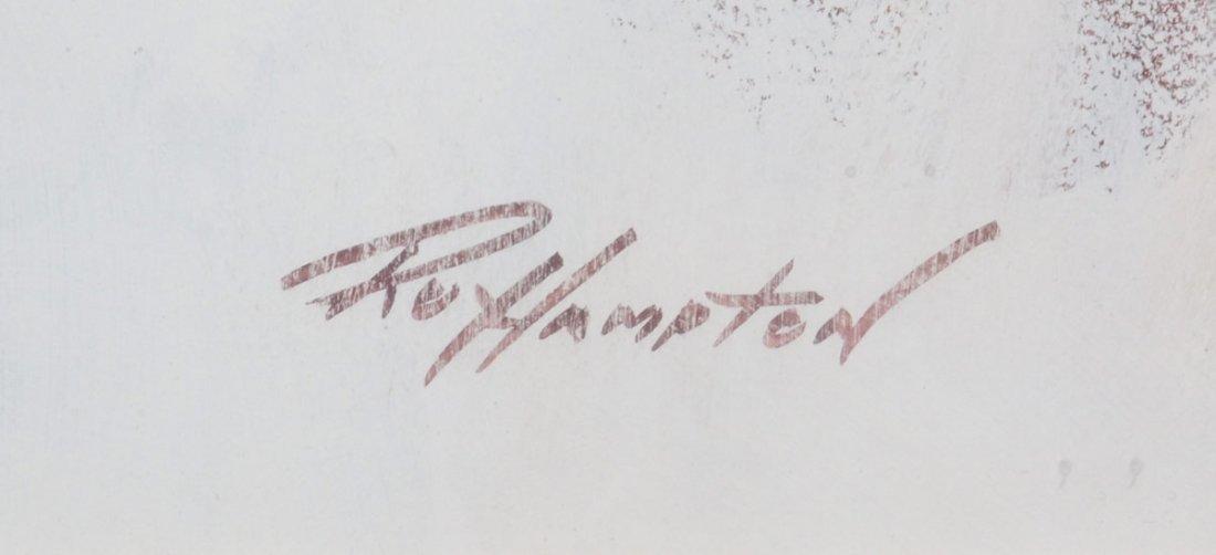 RARE JOHN WAYNE PORTRAIT PAINTING BY ROY HAMPTON - 3