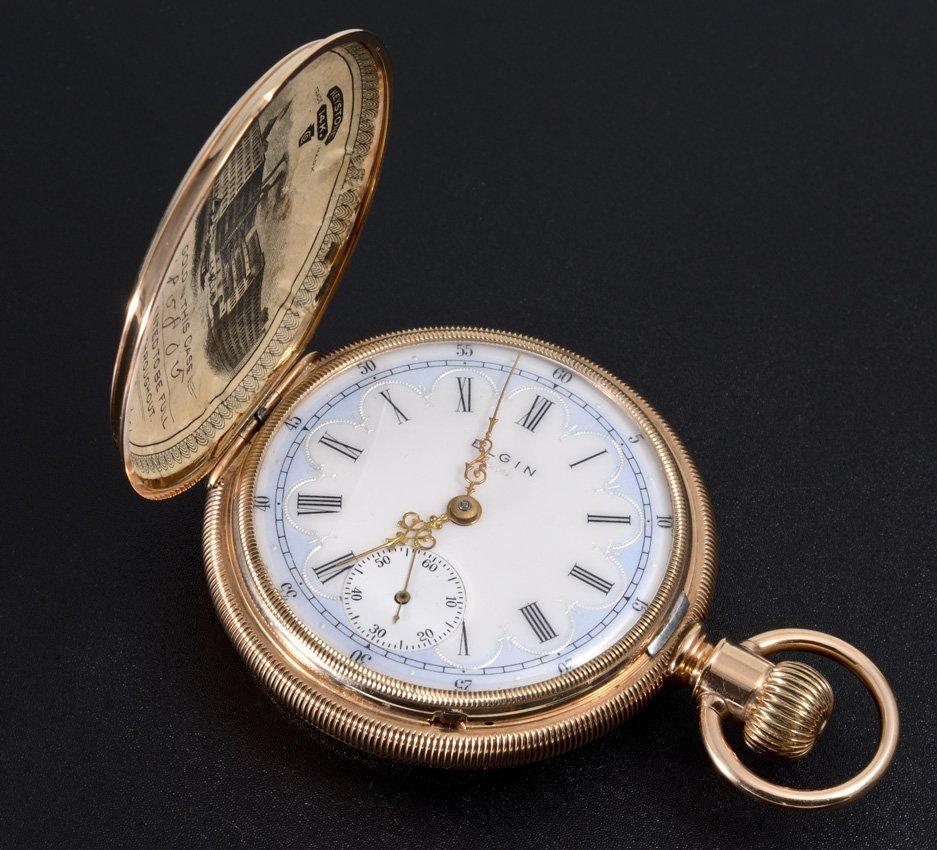 14K GOLD 1892 ELGIN POCKET WATCH