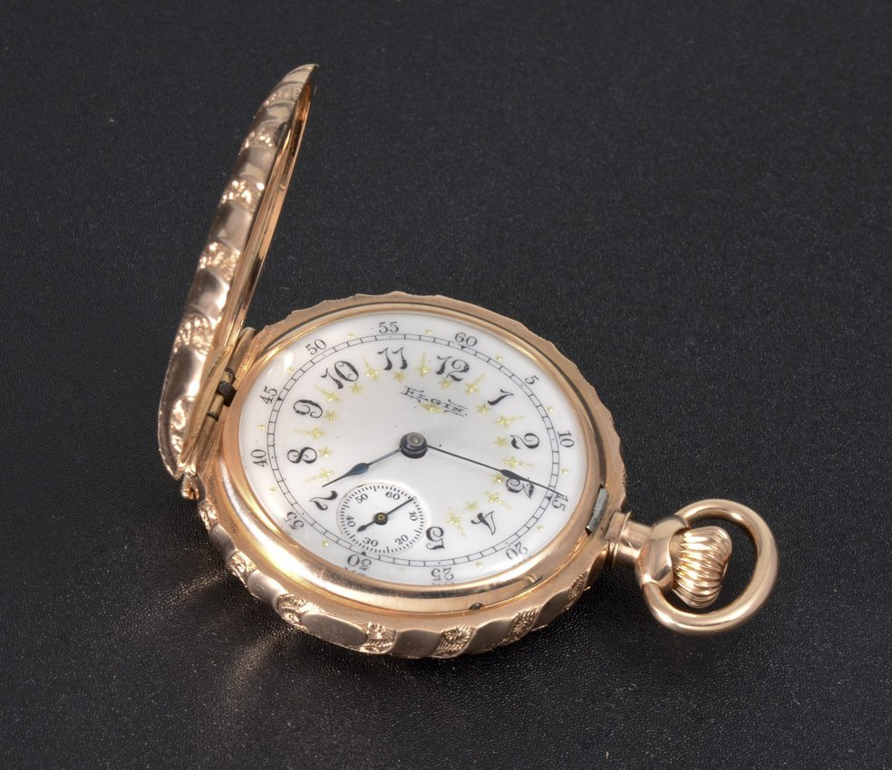 14K GOLD 1894 ELGIN POCKET WATCH - 3