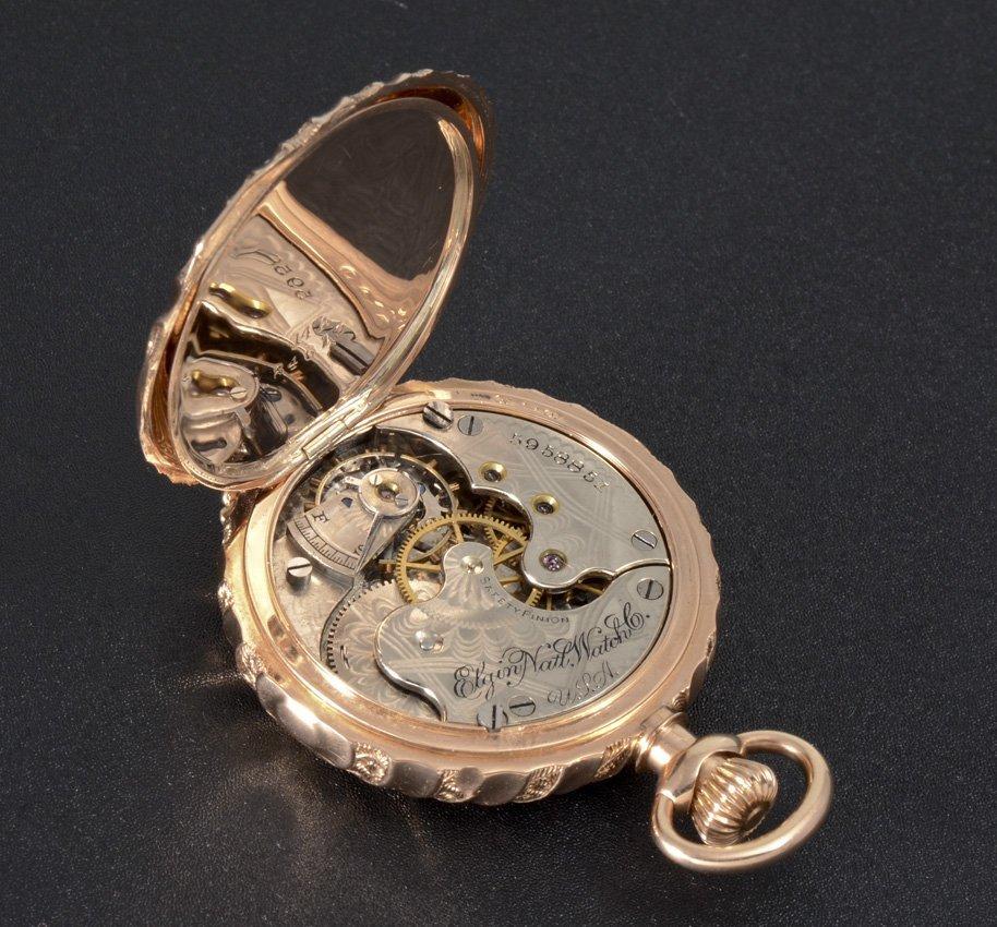 14K GOLD 1894 ELGIN POCKET WATCH - 5