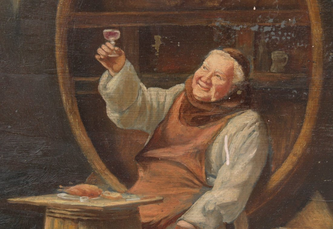 MONK IN THE WINE CELLAR PAINTING