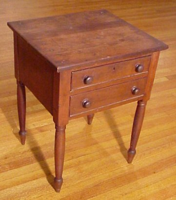9:  EARLY COUNTRY 2 DRAWER WORK STAND