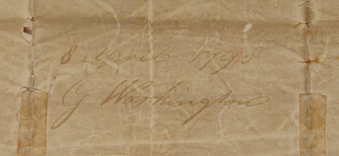 IMPORTANT GEORGE WASHINGTON LETTER SIGNED 2X