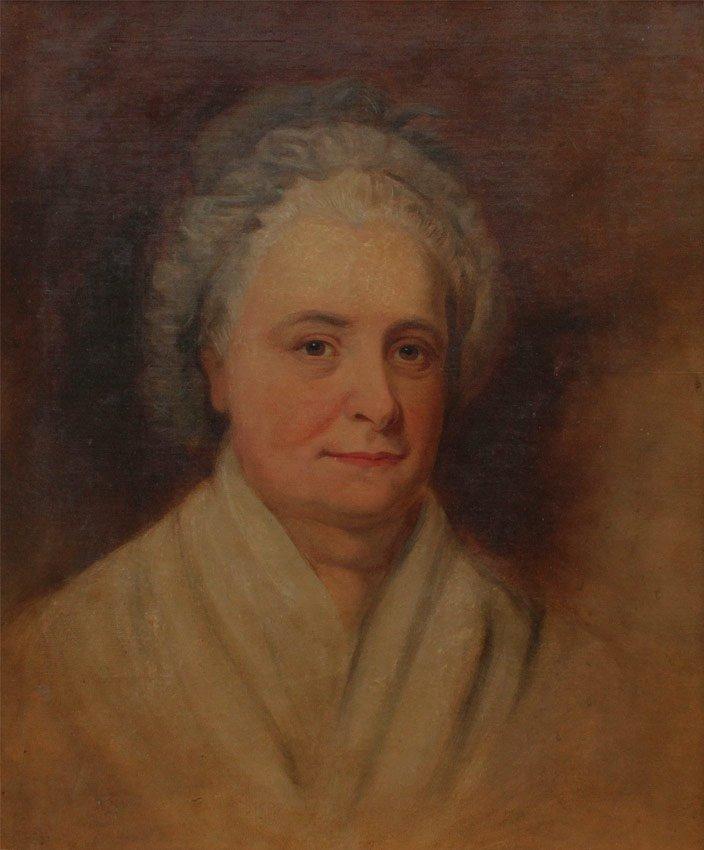 PORTRAIT PAINTING MARTHA WASHINGTON AFT STUART