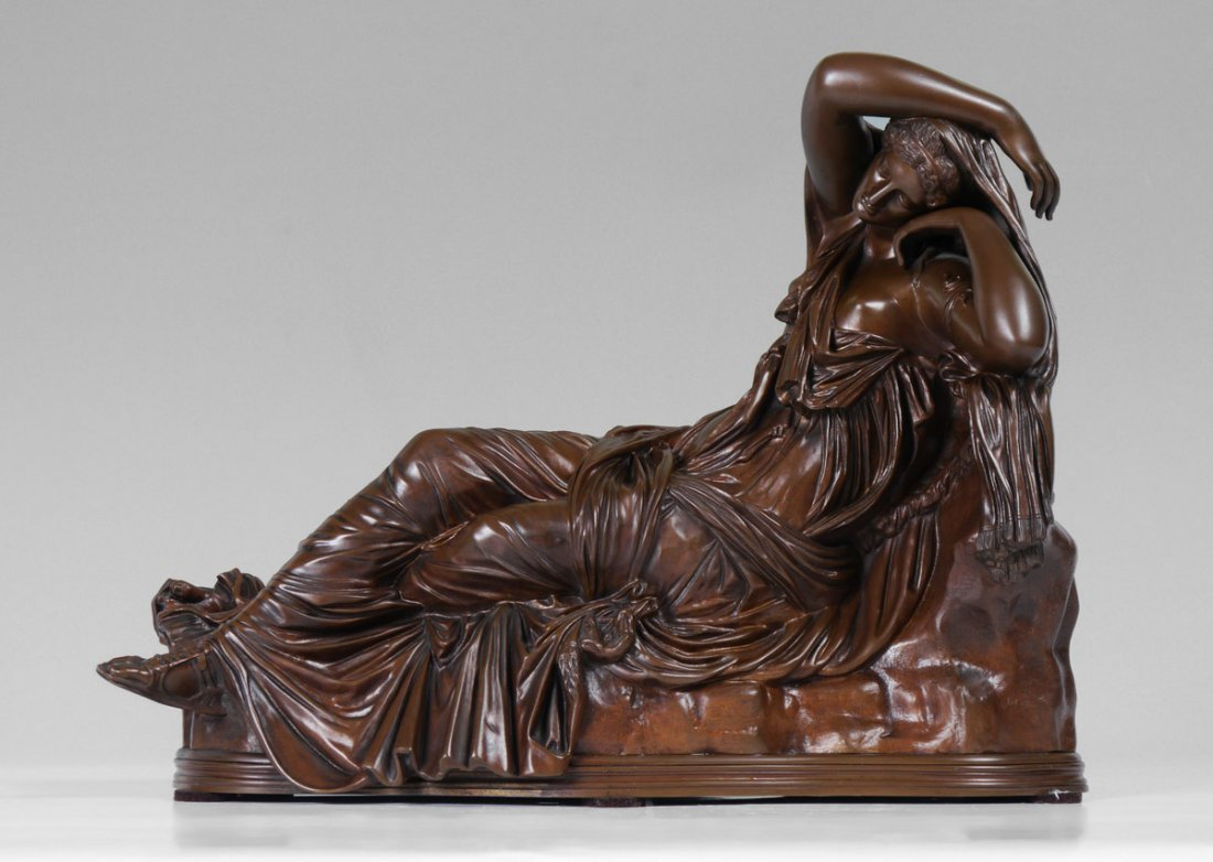 COLLAS FRENCH BRONZE THE SLEEPING ARIADNE