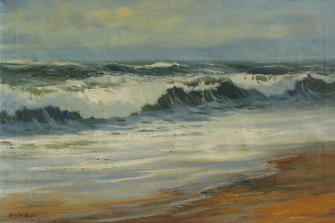 WENDELL ROGERS SEASCAPE PAINTING