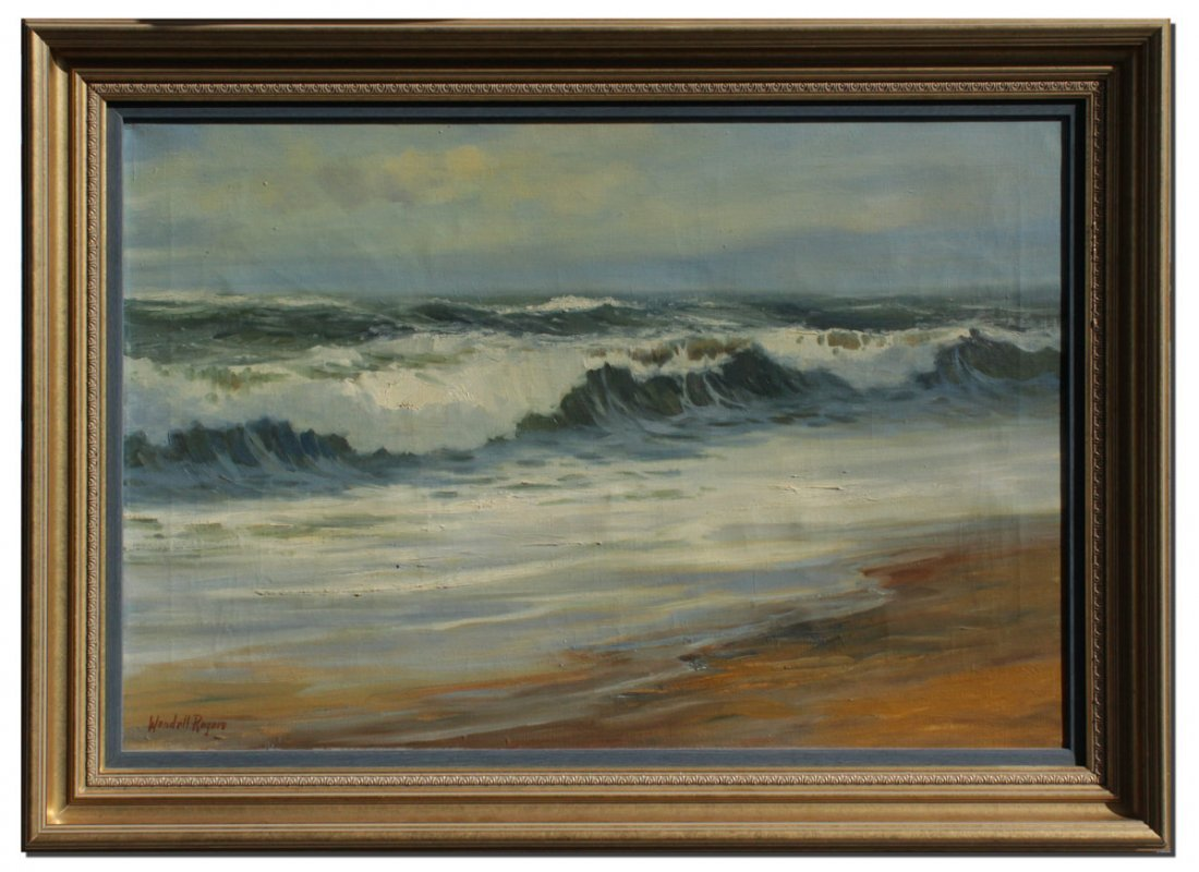WENDELL ROGERS SEASCAPE PAINTING - 2