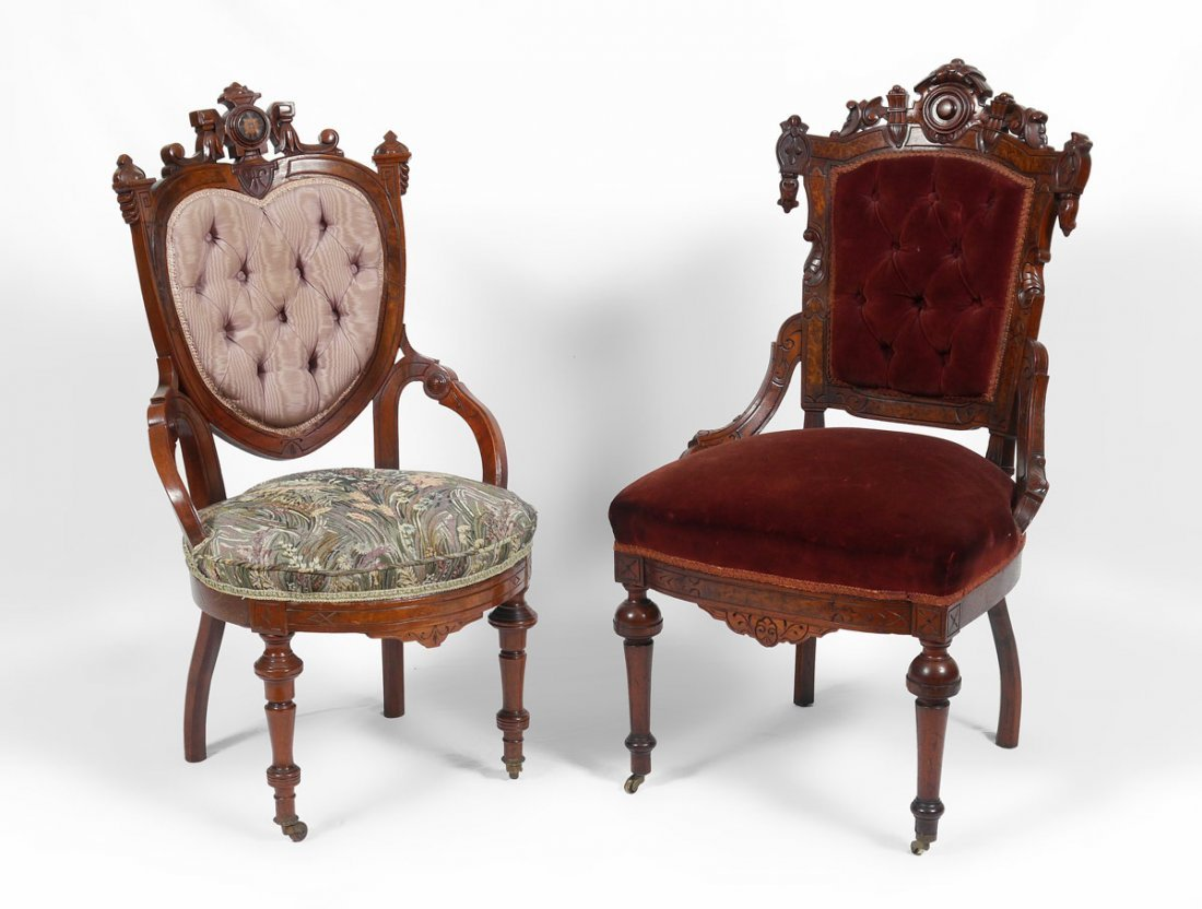 2 POTTIER & STYMUS QUALITY PARLOR CHAIRS