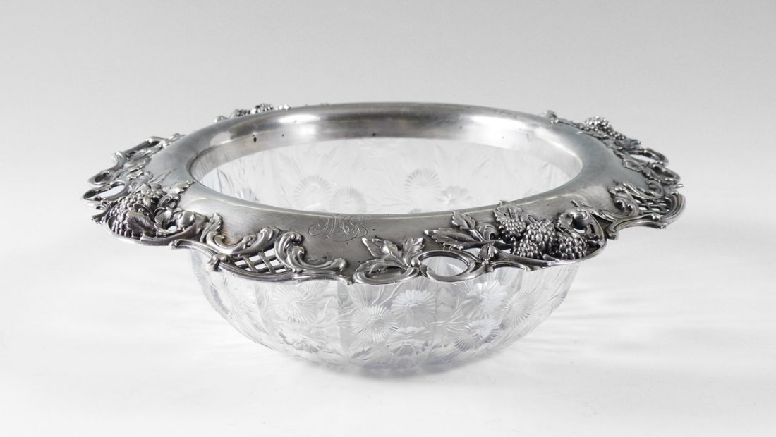 TIFFANY & CO. STERLING MOUNTED CENTER BOWL