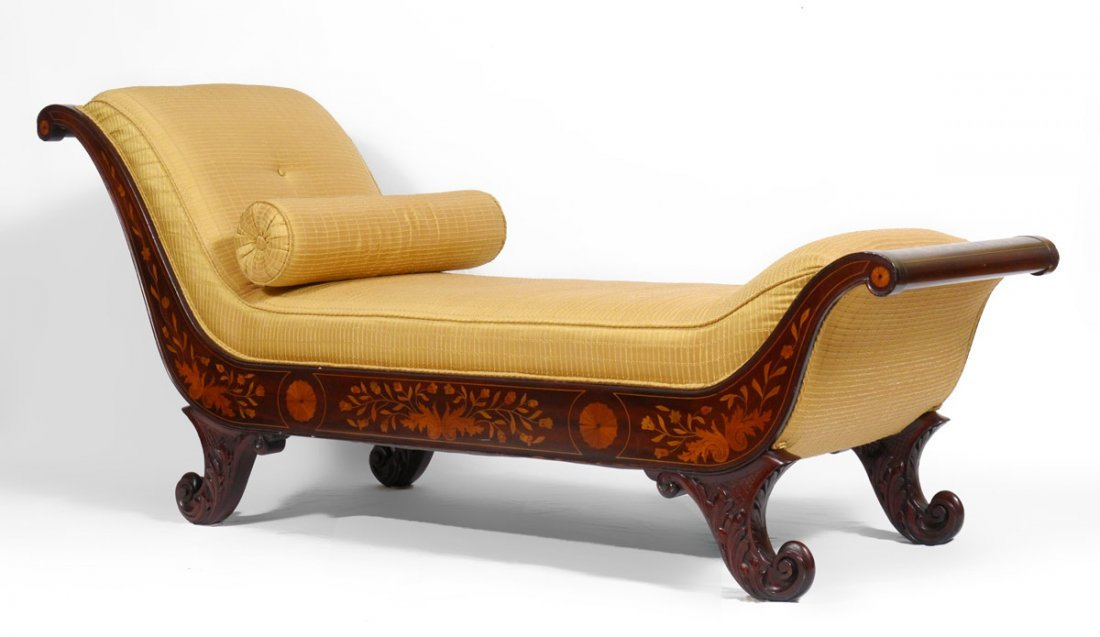 EARLY 19TH CENTURY DUTCH MARQUETRY RECAMIER