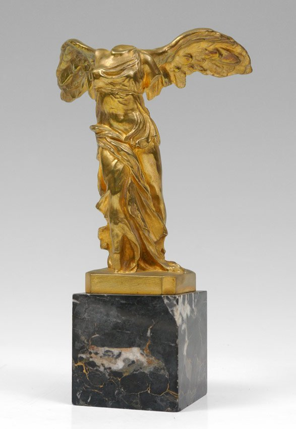 BARBEDIENNE BRONZE SCULPTURE WINGED VICTORY OF