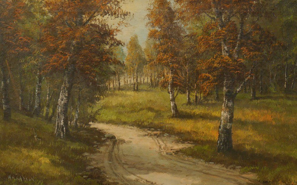 W.A. CARSON AUTUMNAL TRAIL PAINTING