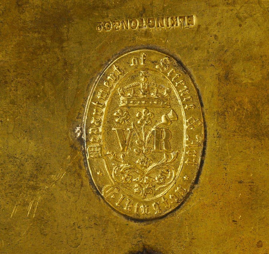 MONUMENTAL ELKINGTON VICTORIAN SILVERPLATE TANKARD - 10